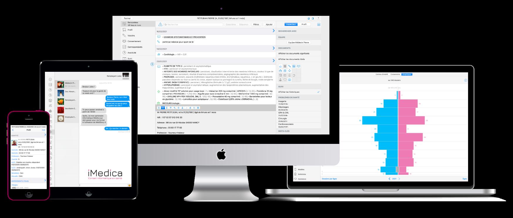 Logiciel MédiStory sur Mac, iPad et iPhone