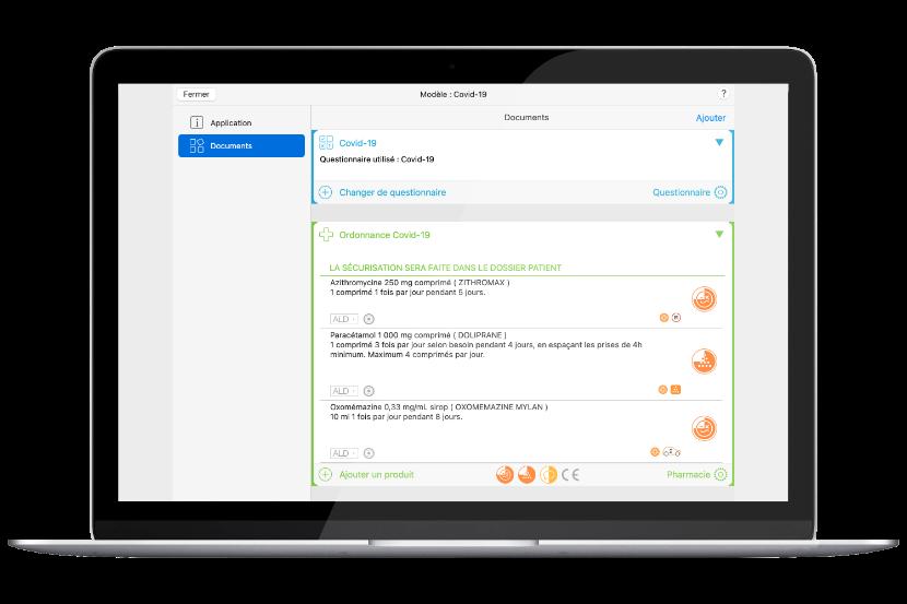 capture d'écran du gestionnaire des modèles de MédiStory 4